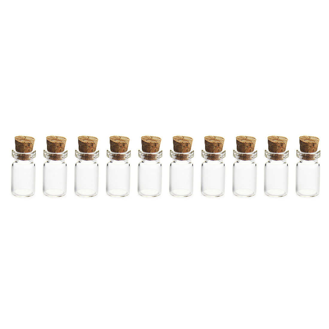 1 to 42 pcs Bottle set Glass Mini Apothecary Vial Cork Craft Tiny Doll WHOLESALE