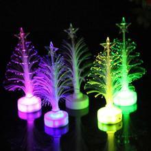 mini christmas tree colorful led fiber optic nightlight decoration light lamp led christmas tree 11030 - Mini Fiber Optic Christmas Tree