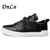 Size 37 49 Genuine Leather Simple Design Fashion Trend Men Casual Shoes Men Lace Up Flat