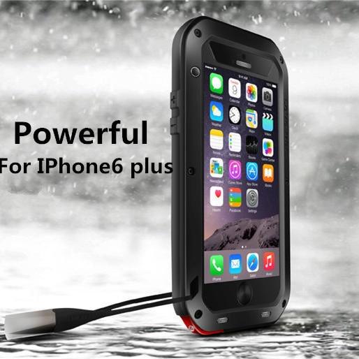 Цена за Любовь мэи противоударный водонепроницаемый прочный закаленное стекло тонкая талия металл алюминий case для apple iphone 6 plus для iphone6 plus