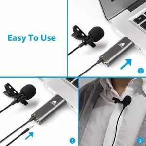 Image 5 - MAONO Lavalier מיקרופון מתכת קליפ על USB מיקרופון Omnidirectional הקבל Micophone חולצה צווארון מיקרופון Youtube מיקרופון