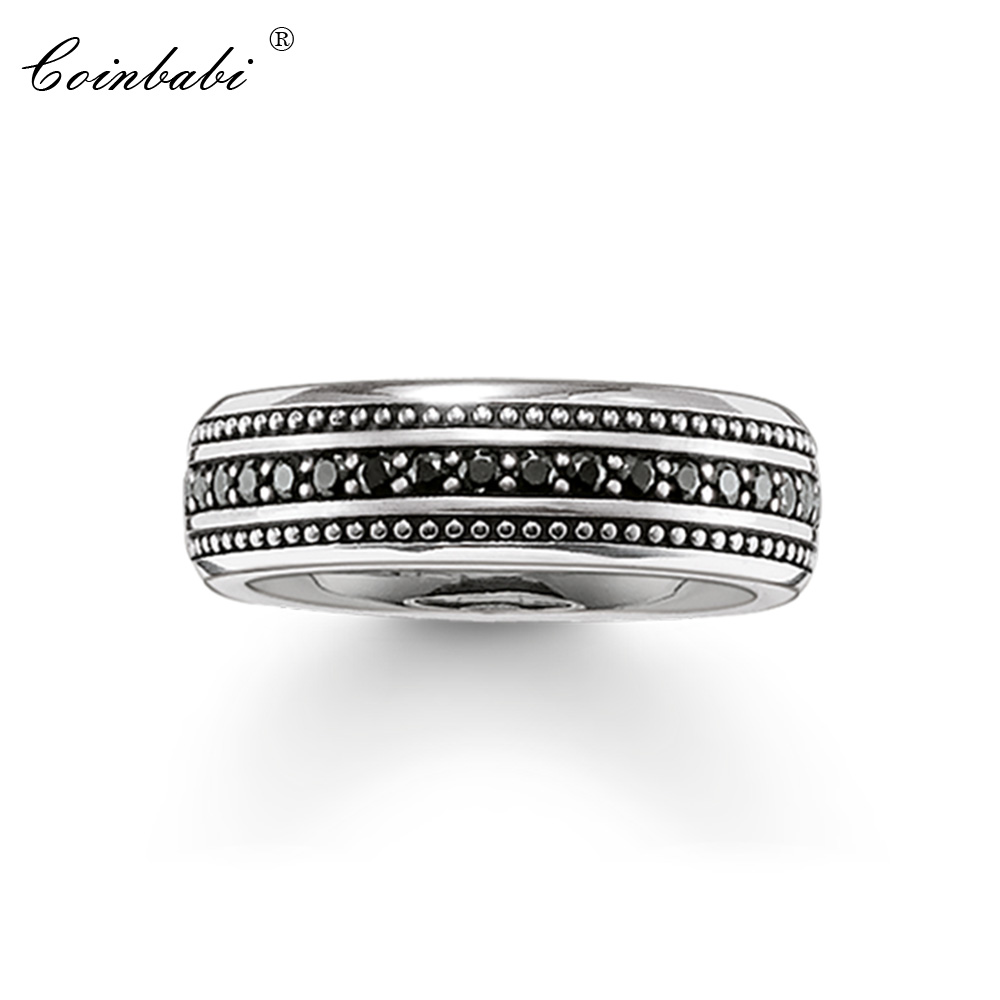 Band Promise Rings Overtaking Lane 925 Sterling Silver Gift For Men Women, Thomas Fashion Eternity Rings TS Fashion Jewelry