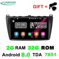 Funrover 1024 600 Android 8 0 Car Dvd Gps For Mazda 6 2008 2009 2010 2011