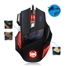 7200 DPI Wired Gaming Mouse T-80 7 Button LED Optical USB Computer Mouse Gamer Mice For PC laptop optical mouse for gaming delux mini keyboard t9 plus professional mechanical gaming keypad wired gaming mouse 12000 dpi computer mice for laptop pc gamer