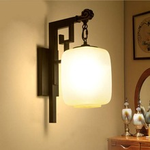 BOKT Retro Bedside Wall Lamp Modern Minimalist Aisle Living Room Bedroom Antique Light E27 Cloth Home Lighting