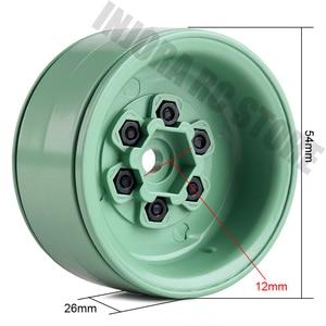 "Image 2 - 4PCS 1.9"" Metal Beadlock Wheel Rim for 1/10 RC Crawler Car Axial SCX10 Tamiya CC01 D90 Defender Traxxas TRX 4 Wheel Hex"