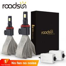 Roadsun S7 سيارة المصابيح الأمامية LED H7 H4 9005 H11 H8 H9 HB1 H1 HB3 9006 9007 880 H27 12V 55W 6000K 12000LM مصباح السيارات لمبة إضاءة
