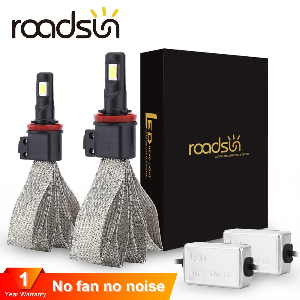 Roadsun s7 carro farol lâmpadas led h7 h4 9005 h11 h8 h9 hb1 h1 hb3 9006 9007 880 h27 12 v 55 w 6000 k 12000lm lâmpada auto lâmpada luz