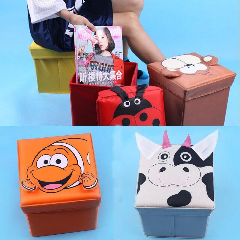 Cute Animal Collapsible Toy Storage Organizer Folding: Multi Functional Storage Box 25*25*25 CM Cute Animals