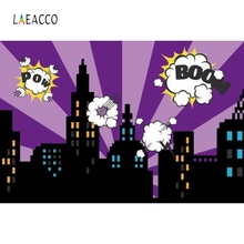 лучшая цена Laeacco Cartoon Super Hero Photographic Backdrops Customized Party Poster Baby Shower Photography Backgrounds For Photo Studio