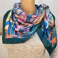 Mosoga 2016 Nova Outono Inverno Imitado Silk Scarf Mulheres na Marca De Luxo 110-110 cm Grande Lenço Quadrado Do Vintage Xaile do Pashmina