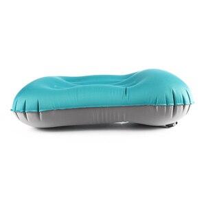 Image 3 - Açık seyahat hava yastığı plaj şişme yastık araba kafa istirahat yürüyüş şişme taşınabilir katlanır çift taraflı yastık