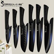 SOWOLL кухонный нож из нержавеющей стали 3,5 »5» 7 »8» утилита для очистки овощей сантоку нарезки хлеба мясной нож шеф-повара рыбы Кухонные гаджеты