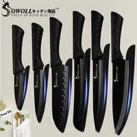 """SOWOLL cuchillos de cocina de acero inoxidable 3,5 """"5"""" 7 """"8"""" cocina de Santoku cortar pan cuchillo de Chef carne de pescado cocina Gadgets"""