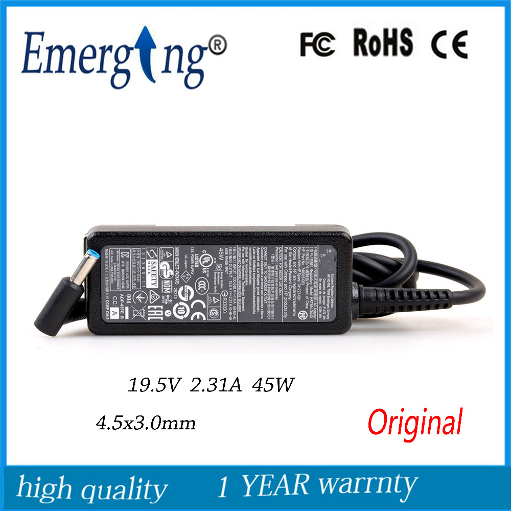 19.5V 2.31A  4.5*3.0mm 45W New Original  AC Laptop Adapter 4.5*3.0mm For Hp  Stream 13  9480m 9470m 740015-003(741727-001)19.5V 2.31A  4.5*3.0mm 45W New Original  AC Laptop Adapter 4.5*3.0mm For Hp  Stream 13  9480m 9470m 740015-003(741727-001)