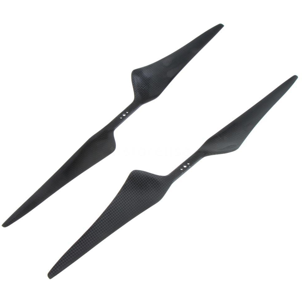 4X 1755 17X5.5 Carbon fiber CW/CCW Propeller prop for RC FPV Multirotor 10x3 8 3k carbon fiber propeller cw ccw 1038 cf props cons for dji f45