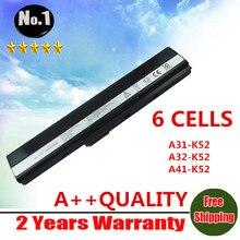 Venta al por mayor batería del ordenador portátil para Asus A52 A52J K42 K42F K52F K52J 70-NXM1B2200Z A31-K52 A32-K52 A41-K52 A42-K52 6 celdas envío gratis