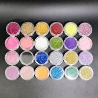 24 colori Shimmer Powder Set Temporaneo Glitter Tattoo Body Art Design Creativo