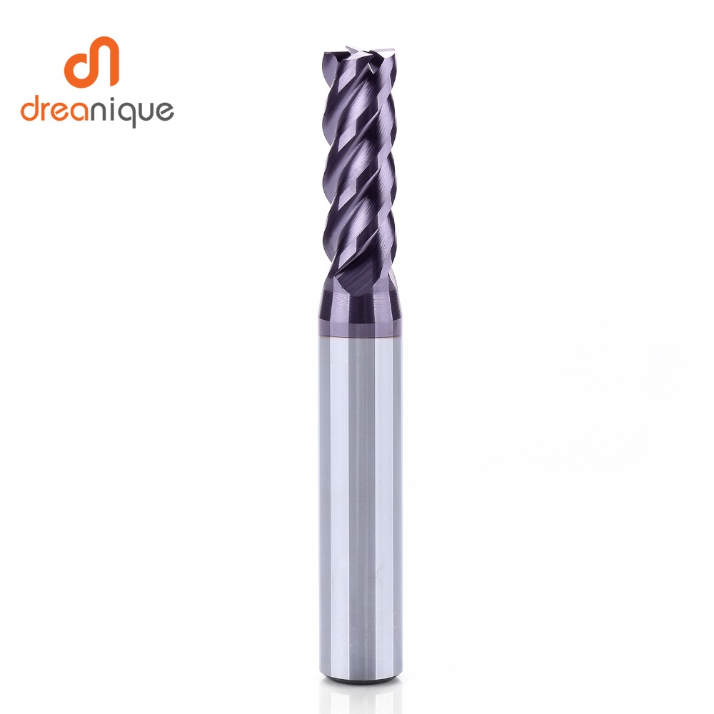 Купить с кэшбэком 1pc tungsten carbide end mill 4 flutes d1-d12 cnc end milling cutter tools for face and slot machining hrc50 coated end mills