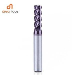 Image 5 - 1pc carburo di tungsteno end mill 4 flauti d1 d12 fine fresatura cnc utensili da taglio per il viso e lavorazione fessura hrc50 frese rivestite