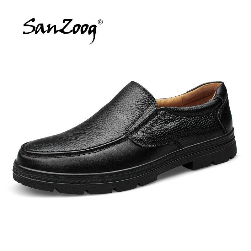 2019 브랜드 가죽 캐주얼 신발 남성 로퍼 신발 디자이너 신발 남성 고품질 브라운 블랙 공식 드레스 대형 46 47-에서남성용 캐주얼 신발부터 신발 의  그룹 1