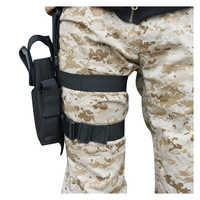 Hot Tactical Army Pistol/Gun Drop Leg Thigh Holster - Black