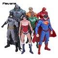 DC Comics Superman Batman Mulher Maravilha Super-heróis Brinquedos 7 pçs/set O Aquaman Cyborg do Flash Lanterna Verde Figuras PVC