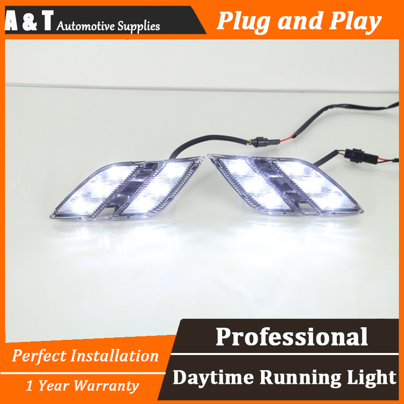 car styling For peugeo 301 LED DRL For 301 led daytime running light High brightness guide LED DRL
