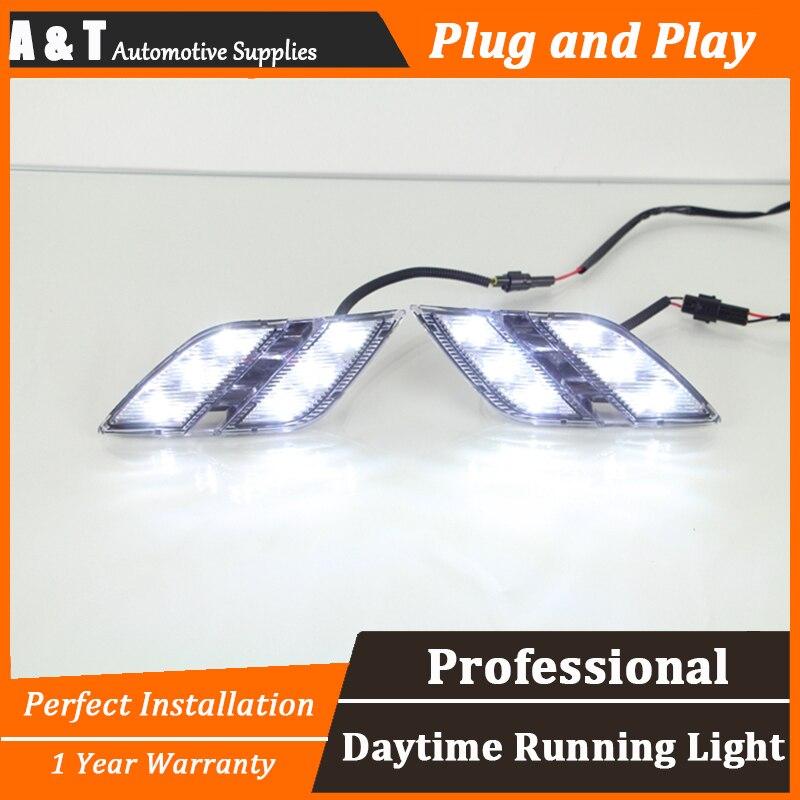 car styling For peugeo 301 LED DRL For 301 led daytime running light High brightness guide LED DRL