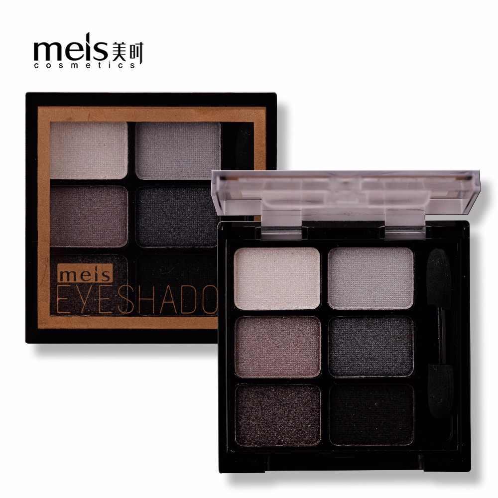 Meis Baru Menawan Eyeshadow 6 Warna Eye Shadow Palet Make Up Palet Shimmer Pigmen Eyeshadow Bubuk Mode Warna