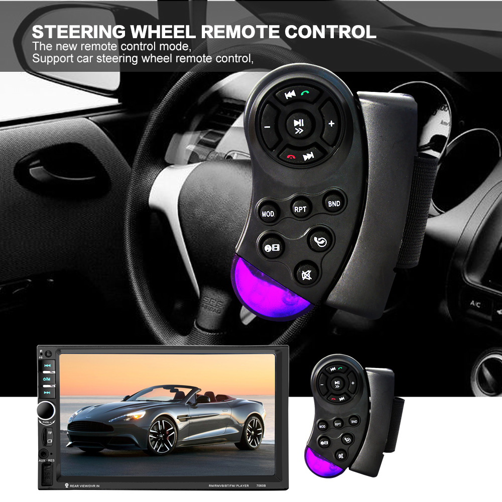 7060B 7 Inch Layar TFT Bluetooth Audio Mobil Stereo MP4 Player 12 V - Elektronik Mobil - Foto 3