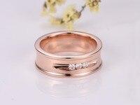 다이아몬드 웨딩 밴드 약혼 반지 남성 밴드 다이아몬드 반지 14 천개 장미/옐로우/화이트 골드 반지 여성 다이아몬드 보석