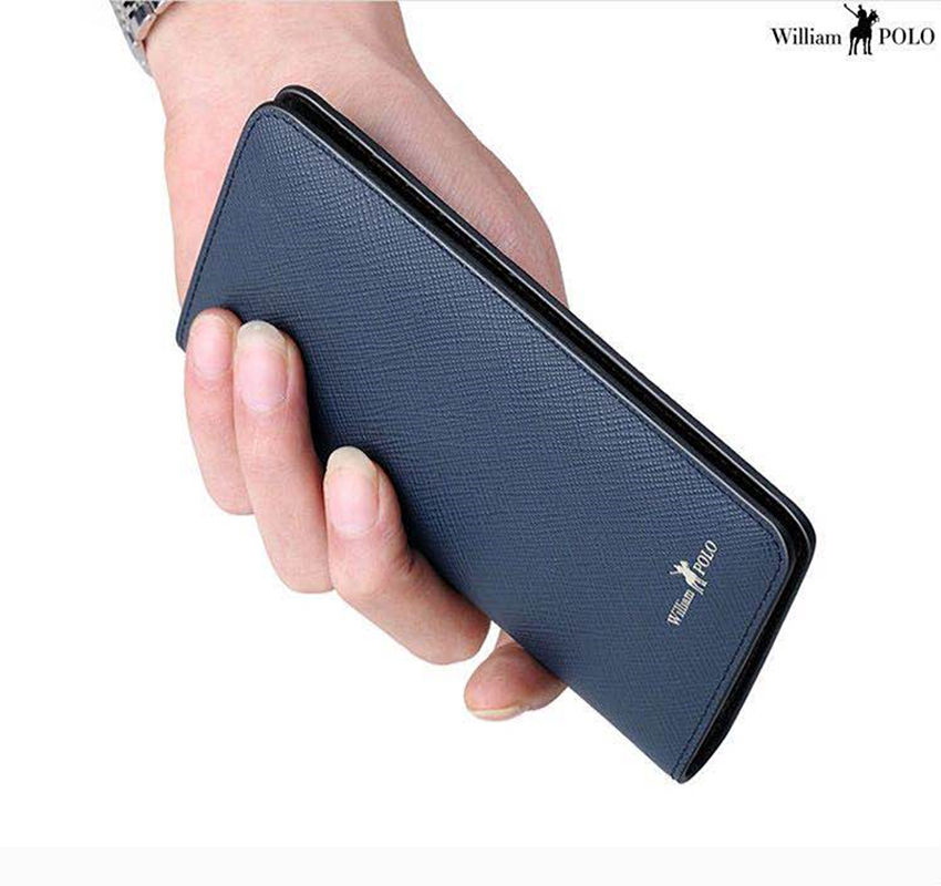 Luxury MB Designer Famous Luxury Brand Genuine Leather Mens Wallets Clutch Purse