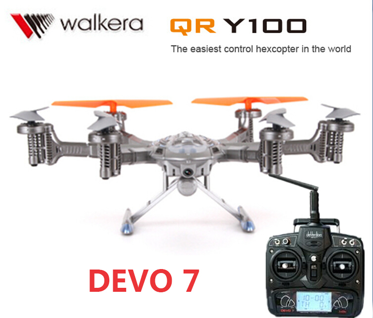 (In stock) Original Walkera QR Y100 with DEVO 7 transmitter 5.8Ghz 6-Axis FPV Drone with Camera Support IOS/Android System original walkera devo f12e fpv 12ch rc transimitter 5 8g 32ch telemetry with lcd screen for walkera tali h500 muticopter drone