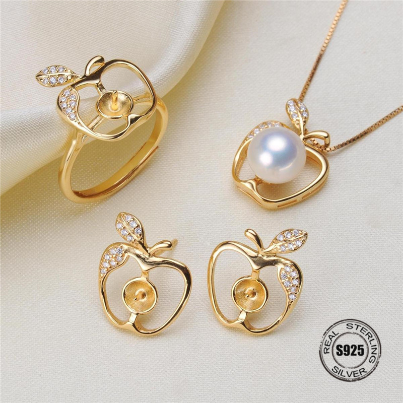 Necklace/Earrings/Ring Sets Sterling Silver Jewelry Sets Accessories Making DIY Handmade For Women Pearl Jewelry Findings