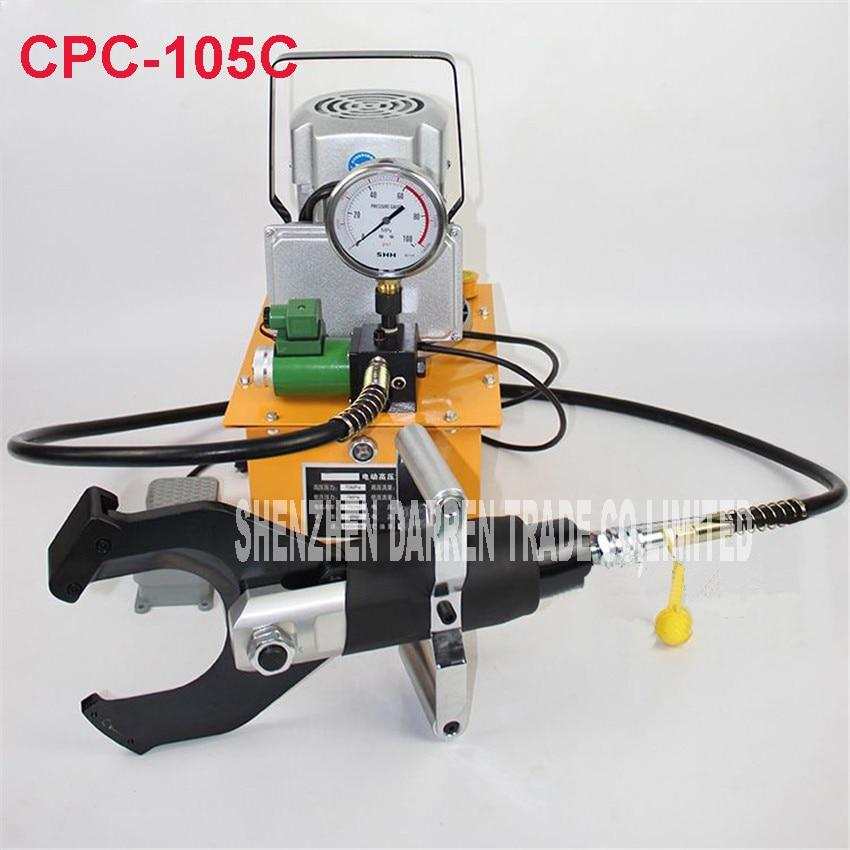 CPC-105C elektrický hydraulický nůž na stříhání řezu 105MM stíněný kabel Elektrické hydraulické nůžky na kabel