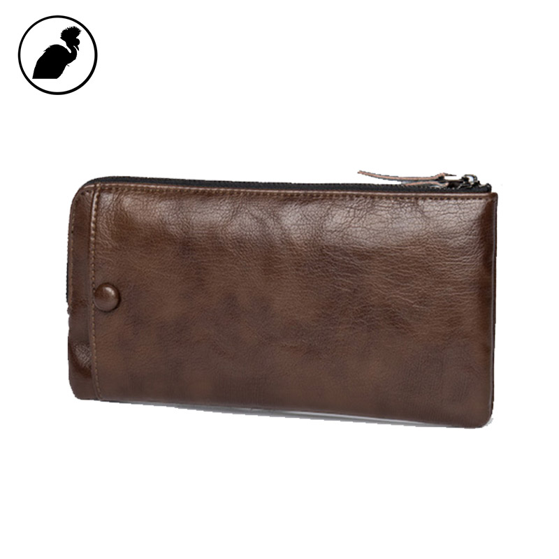 ETONWEAG Famous Brands Italian Leather Wallets Men Clutch Bags Brown Zipper Vintage Wallet For Credit Cards Business Coin Purse 2016 famous brand new men business brown black clutch wallets bags male real leather high capacity long wallet purses handy bags