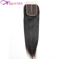 Peruvian Straight Lace Closure 4 4 Middle Part 10 20inch Natural Black Remy Human Hair Closure