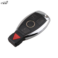 RIN 3 1 Button Smart Remote Car Key Shell Case Fob For MERCEDES BENZ KEY FOB