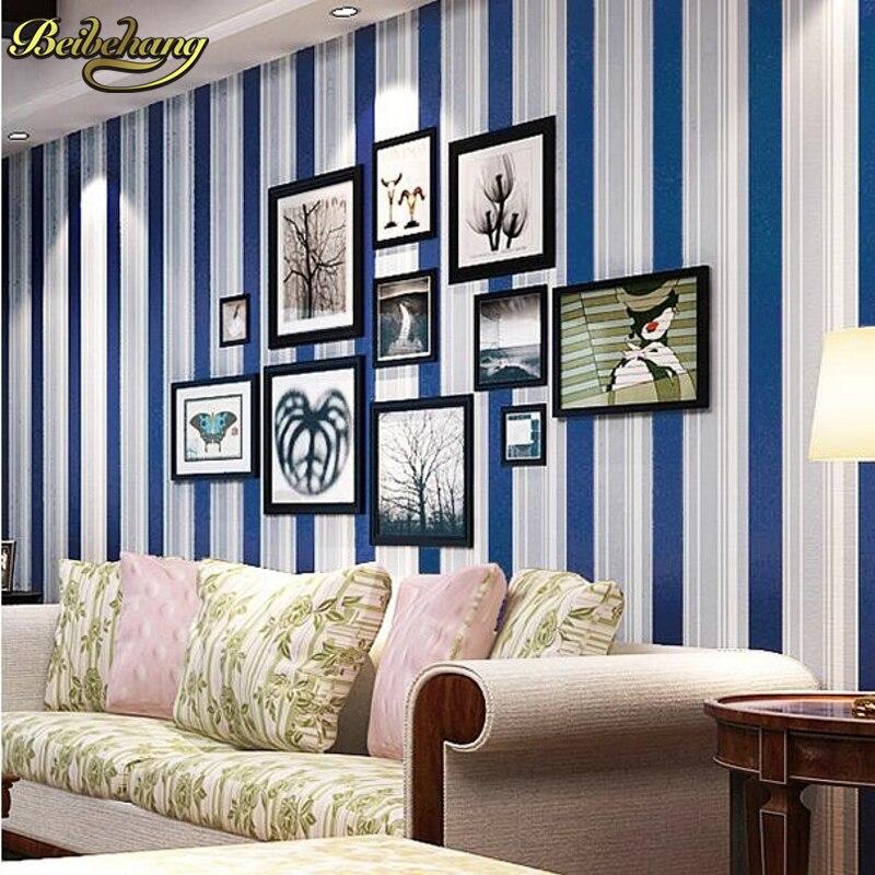 Fantastisch Beibehang Moderne Kind Echte Wohnzimmer Wände Tapete Blau Rot Grün Multi  Farbe Vertikale Streifen Wand Papier, Wand Papier Vinyl In Beibehang  Moderne Kind ...
