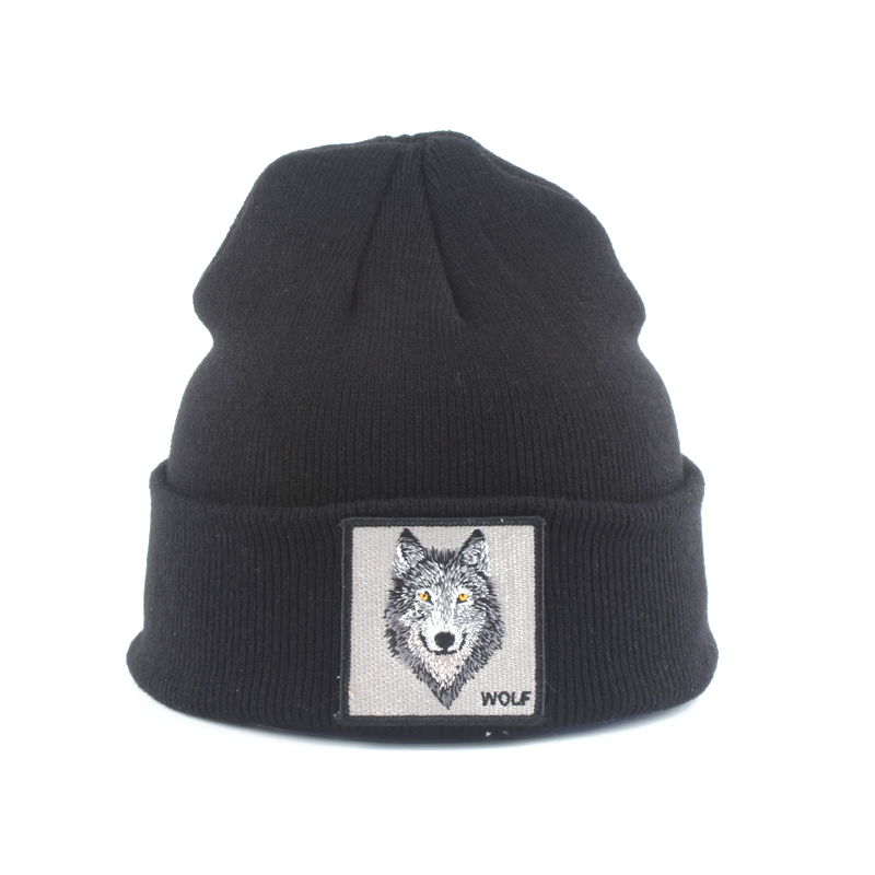 New Wolf Animal Hat Kids   Skullies     Beanies   Boys Girls Winter Cap Thick Knitted Hats For Children