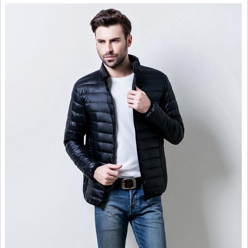 Autumn Winter Lightweight Thin 90% White Duck Down Jacket Men Casual Ultralight Male Feather Jackets Coat Ultra Light Size M-6XL