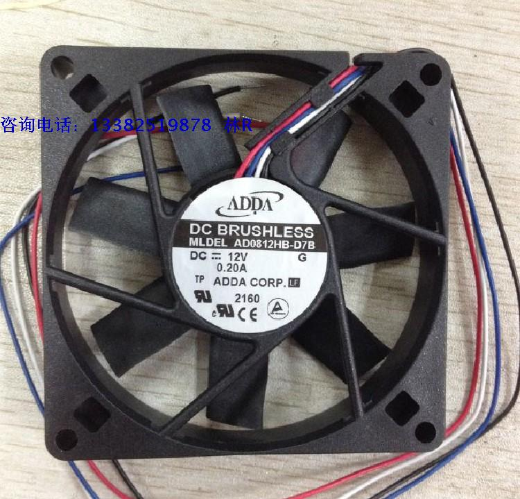 New FOR ADDA 8015 12V 0.2A AD0812HB-D91GP double ball cooling fan