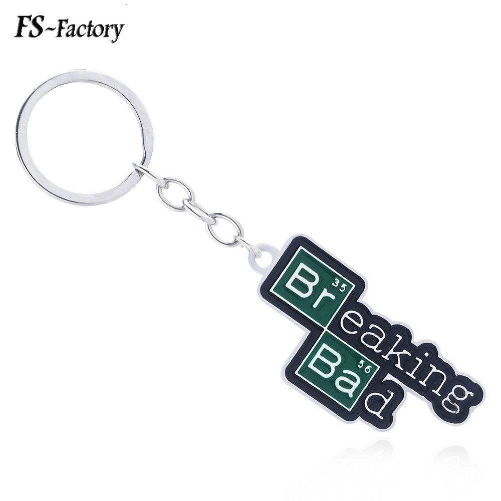TV Breaking Bad Letter Logo Keychain Number 35 56 Pendant Key Chain For Women Men Car Keyring Souvenir Jewelry