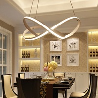 Creative LED Chandelier Aluminum Acrylic Dimmable Home Dining Bedroom Lights Office Commercial Premises Ceiling Lights 110