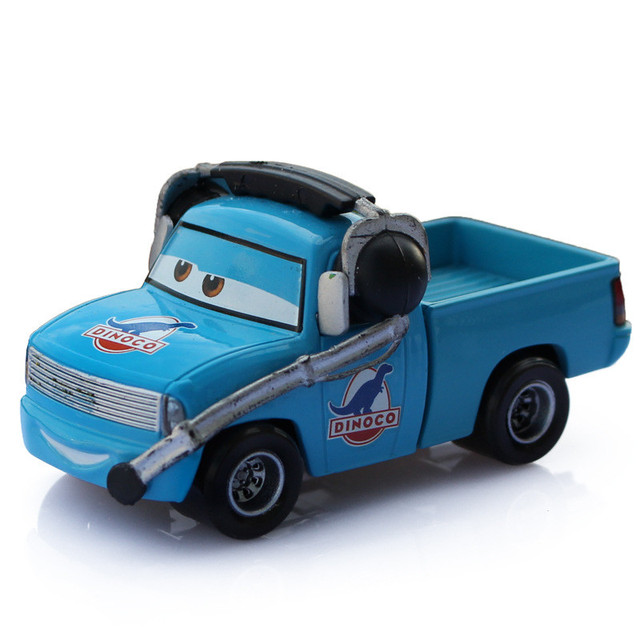 pixar cars diecast toy m tal dinoco avec casque bleu couleur alliage mod le de voiture dessin. Black Bedroom Furniture Sets. Home Design Ideas