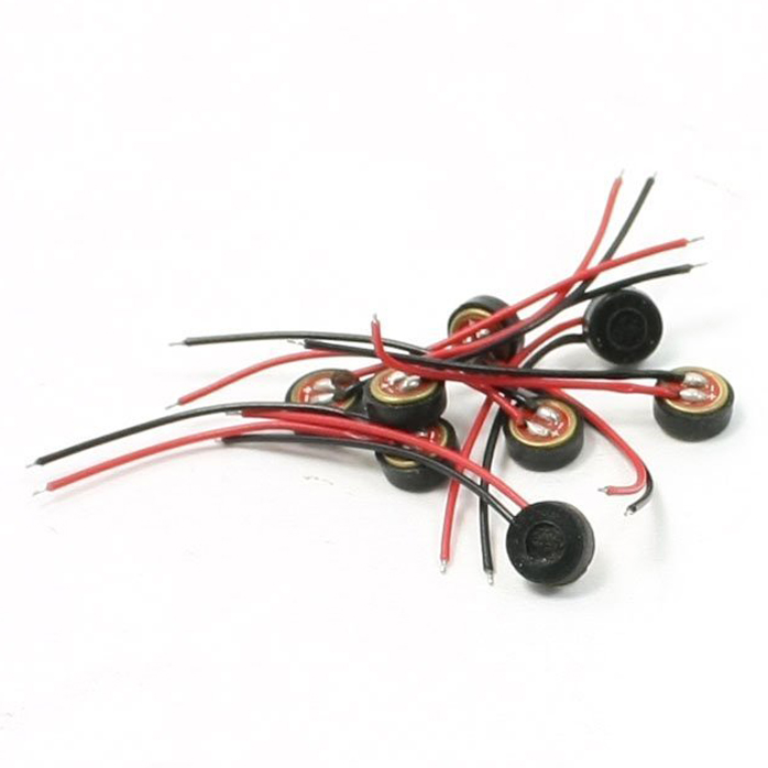 HFES 10pcs Electret Condenser MIC 4mm x 2mm untuk PC Phone MP3 MP4
