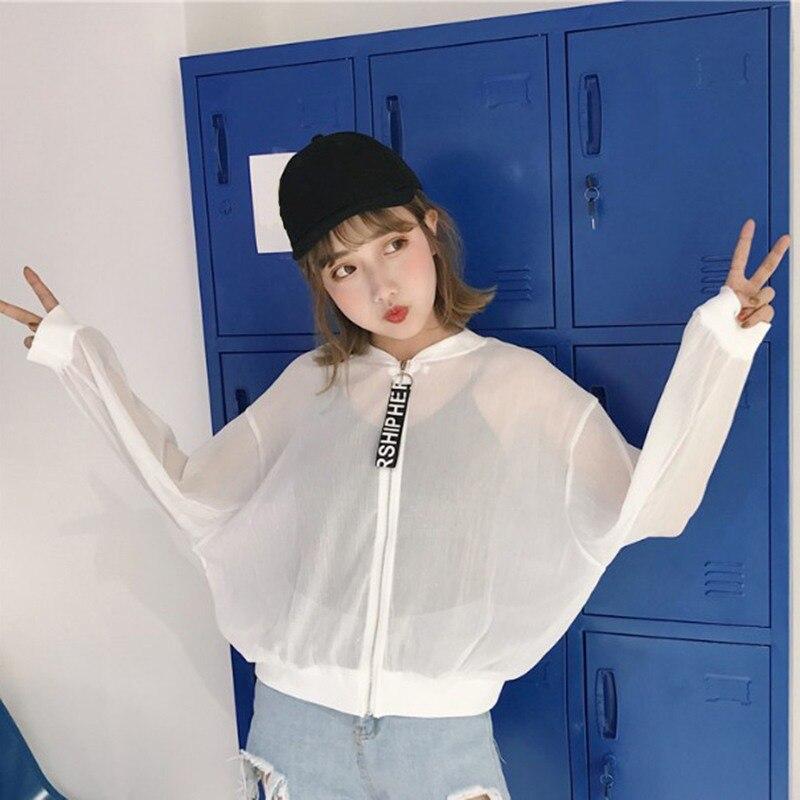 Summer Jacket Women\'s Rose Printing Long Sleeve Sunscreen Short Thin Jacket women Breathable Casual Bomber Jacket W9