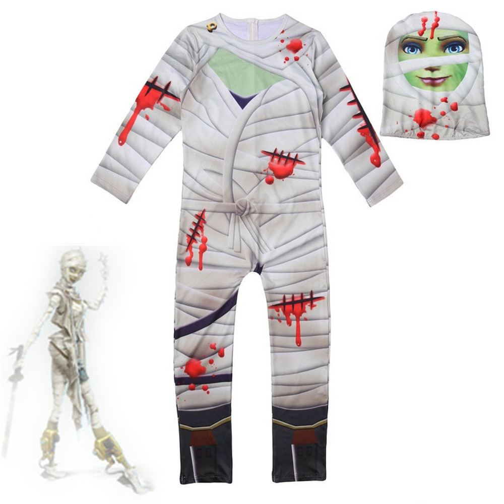 children/kids Halloween Merry Marauder Diffuse party mummy night skull trooper Human skeleton Cosplay Zentai Costume jumpsuit free shipping dhl custom made new arrival sexy red pvc zentai catsuit zentai suit for halloween party front zipper zp1508