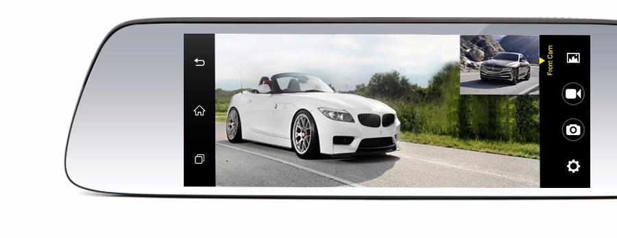 "Junsun 7"" Car GPS Navigation Android 5.0 Special 3G DVR Camera Rearview Mirror Dual Lens Truck gps sat nav Navitel Europe Maps 6"